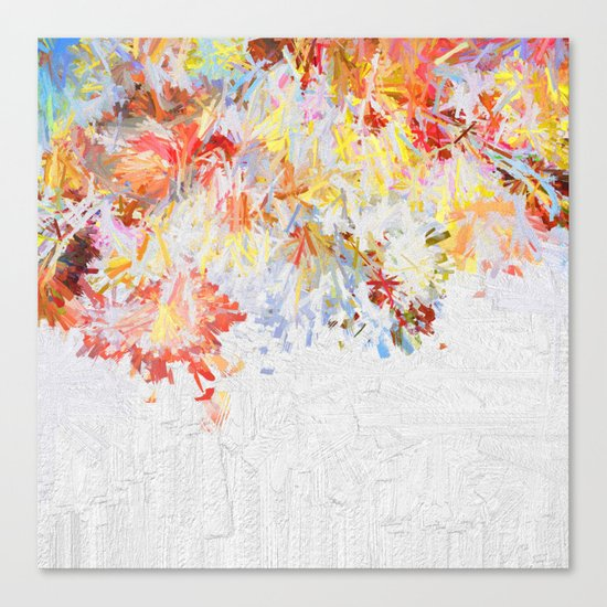 Flower Rain Canvas Print