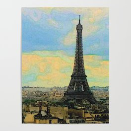 Watercolor Dream of Paris Poster