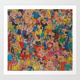 Archie Comics Collage Art Print