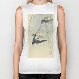 Three birds in full flight - Ohara Koson (1887 - 1945) Biker Tank