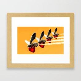 Flight Of The Valkybees Framed Art Print