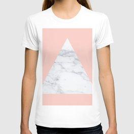 Blush marble triangle T-shirt