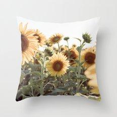 A Sunflower Story Throw Pillow