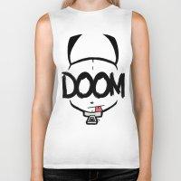 doom Biker Tanks featuring DOOM by Oddworld Art