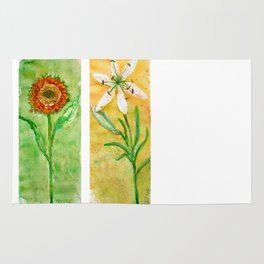 flowers 2 Rug