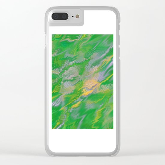 Pearl Green Water Clear iPhone Case