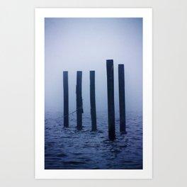 Pillars in the Mississippi Fog Art Print