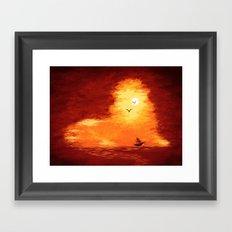 The Horizon Lion Framed Art Print