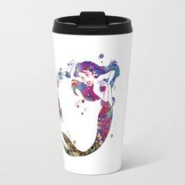 The Little Mermaid Ariel Watercolor  Travel Mug