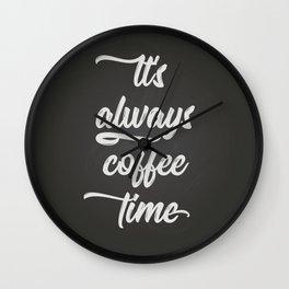 Coffee Time II Wall Clock