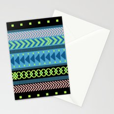 Together Again - tribal geometrics Stationery Cards