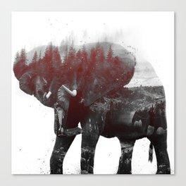 Elephant V1 Canvas Print