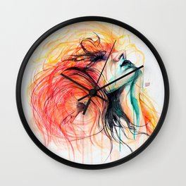 Metamorphosis-Bird of paradise Wall Clock