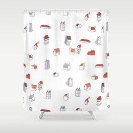 """Houses"" Shower Curtain"