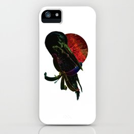 Red Moon Crane iPhone Case
