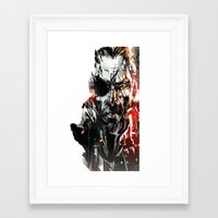 metal gear solid Framed Art Prints featuring Metal Gear Solid V by Hisham Al Riyami