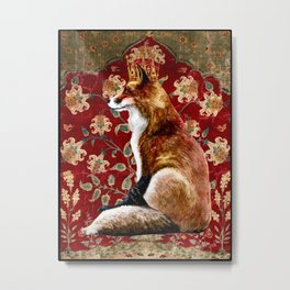 The Fox King - Lily Tapestry Metal Print
