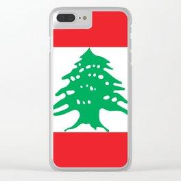Lebanon Flag Clear iPhone Case
