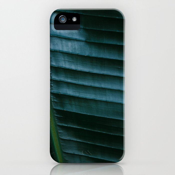 Botanical photography print | Dark green tropical leaf of a palm | Jungle Wanderlust art iPhone Case