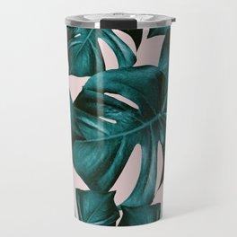 Monstera Leaves Pattern #4 #tropical #decor #art #society6 Travel Mug