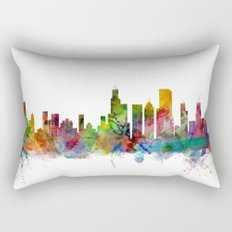 Chicago Illinois Skyline Rectangular Pillow