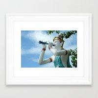 mythology Framed Art Prints featuring Asian mythology by Bakal Evgeny