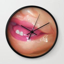 Spit Happens Wall Clock
