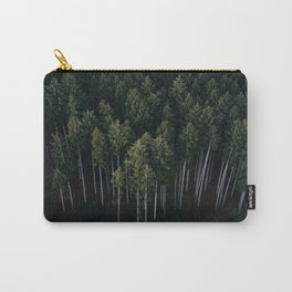 Aerial Photograph of a pine forest in Germany - Landscape Photography Carry-All Pouch