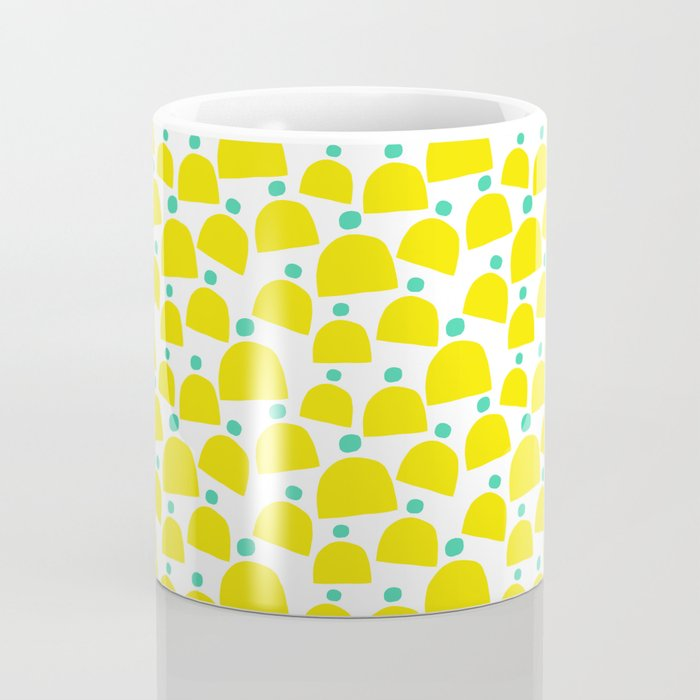 Cute Yellow and Teal Winter Hats Coffee Mug