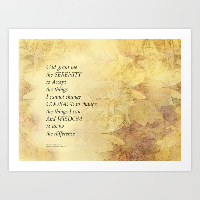 Serenity Prayer Abstract Sunflowers Art Print by peace_gifts | Society6
