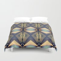 art deco Duvet Covers featuring Art-deco by I-lin