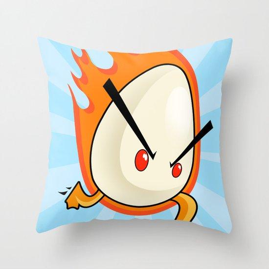 EggFury Throw Pillow