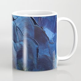 Red Mountain and Stormy Sky Oil Painting Fine Art Coffee Mug