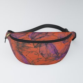 Whirlwind of petals orange Fanny Pack