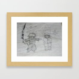 Hungry much? Framed Art Print