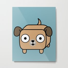 Pitbull Loaf - Fawn Pit Bull with Floppy Ears Metal Print