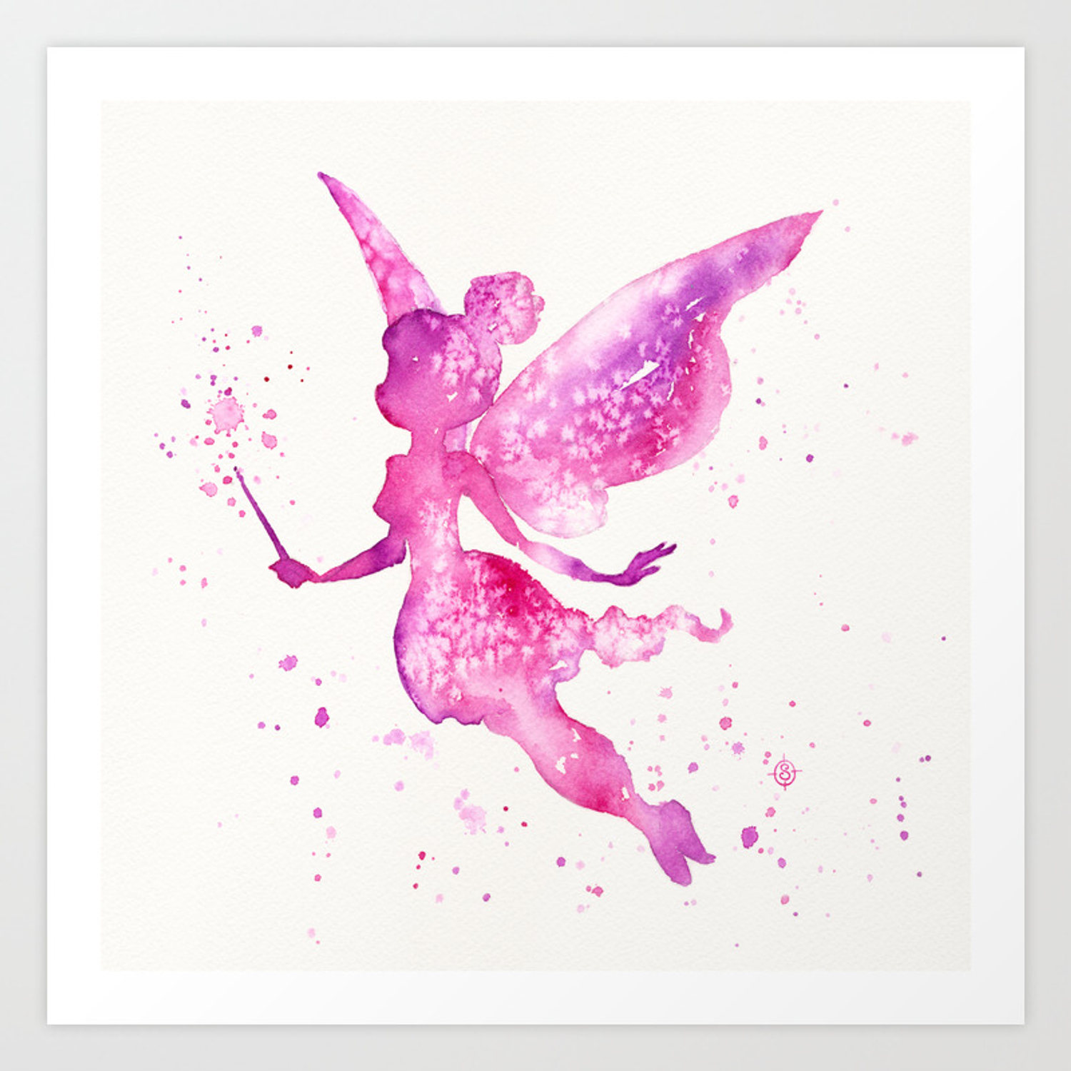 Off With The Fairies Art Print By Sillierthansally Society6