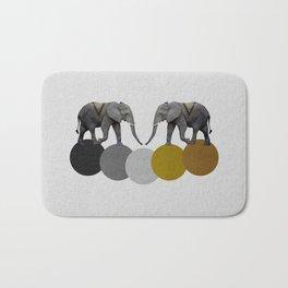 Tribal Elephants Bath Mat