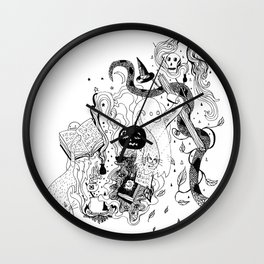 Witches Brew (Full Moon) Wall Clock