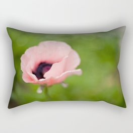Peachy poppy Rectangular Pillow