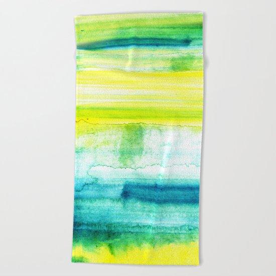 Swimming Upstream Beach Towel