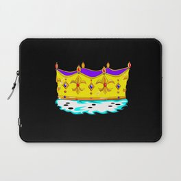 A Royal Gold Crown with Black Background Laptop Sleeve