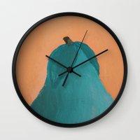 pear Wall Clocks featuring Pear by seekmynebula