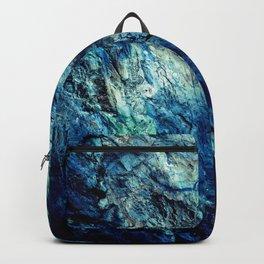 Mineral Texture Dark Teal Ocean Blue Backpack