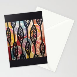 Leather Feaf Stationery Cards
