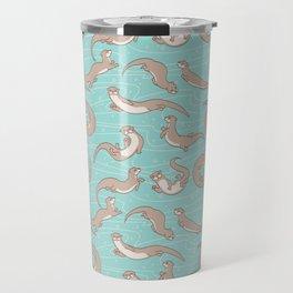 Swimming Otters Travel Mug