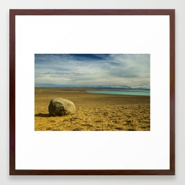 Lonely Rock Framed Art Print