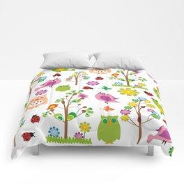 Summer birds pattern Comforters