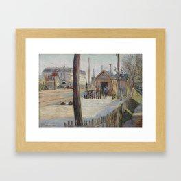 Railway Junction near Bois-Colombes Framed Art Print