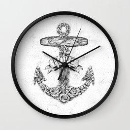 Hope Anchors Wall Clock
